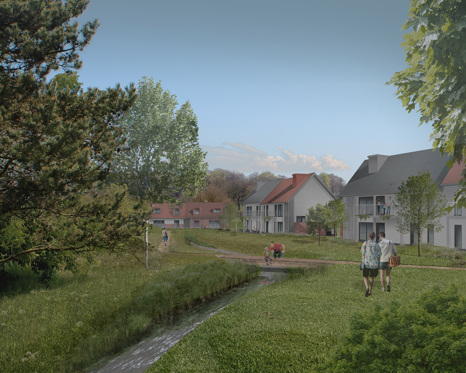 Proposed view of the Holiday Accommodation looking South East