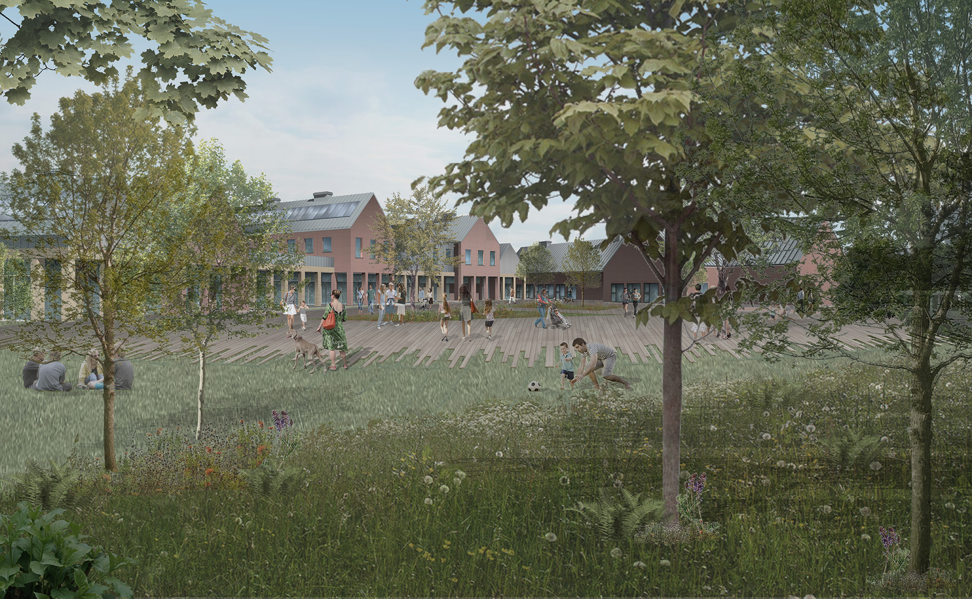 Proposed view of the Market Yard and Central Buildings